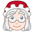 Mrs. Claus: Light Skin Tone on emojidex 1.0.34
