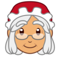 Mrs. Claus: Medium Skin Tone on emojidex 1.0.34