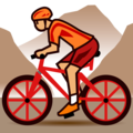 Person Mountain Biking: Medium Skin Tone on emojidex 1.0.34