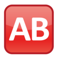 Ab Button (blood Type) on emojidex 1.0.34