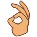 OK Hand: Medium Skin Tone on emojidex 1.0.34