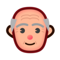 Old Man: Medium-Light Skin Tone on emojidex 1.0.34
