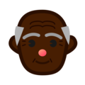 Old Man: Dark Skin Tone on emojidex 1.0.34