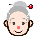 Old Woman: Light Skin Tone on emojidex 1.0.34