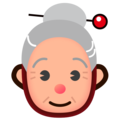 Old Woman: Medium-Light Skin Tone on emojidex 1.0.34