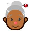 Old Woman: Medium-Dark Skin Tone on emojidex 1.0.34