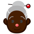 Old Woman: Dark Skin Tone on emojidex 1.0.34
