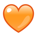 Orange Heart on emojidex 1.0.34