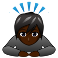 Person Bowing: Dark Skin Tone on emojidex 1.0.34