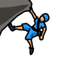 Person Climbing: Medium Skin Tone on emojidex 1.0.34