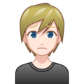 Person Frowning: Light Skin Tone on emojidex 1.0.34