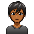 Person Frowning: Medium-Dark Skin Tone on emojidex 1.0.34