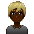 Person: Dark Skin Tone, Blond Hair on emojidex 1.0.34