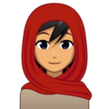 Woman With Headscarf: Medium Skin Tone on emojidex 1.0.34
