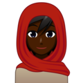 Woman With Headscarf: Dark Skin Tone on emojidex 1.0.34