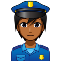 Police Officer: Medium-Dark Skin Tone on emojidex 1.0.34