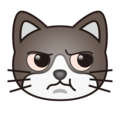 Pouting Cat Face on emojidex 1.0.34