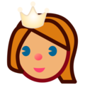 Princess: Medium Skin Tone on emojidex 1.0.34