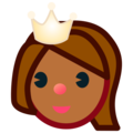 Princess: Medium-Dark Skin Tone on emojidex 1.0.34