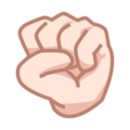 Raised Fist: Light Skin Tone on emojidex 1.0.34