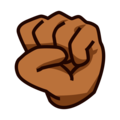 Raised Fist: Medium-Dark Skin Tone on emojidex 1.0.34