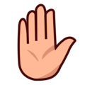 Raised Hand: Medium-Light Skin Tone on emojidex 1.0.34
