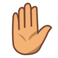 Raised Hand: Medium Skin Tone on emojidex 1.0.34
