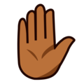 Raised Hand: Medium-Dark Skin Tone on emojidex 1.0.34