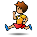 Person Running: Medium Skin Tone on emojidex 1.0.34