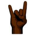 Sign of the Horns: Dark Skin Tone on emojidex 1.0.34