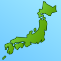 Map of Japan on emojidex 1.0.34