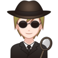 Detective: Light Skin Tone on emojidex 1.0.34