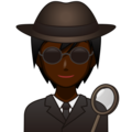Detective: Dark Skin Tone on emojidex 1.0.34