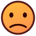 Slightly Frowning Face on emojidex 1.0.34