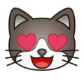 Smiling Cat with Heart-Eyes on emojidex 1.0.34