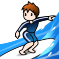 Person Surfing: Light Skin Tone on emojidex 1.0.34