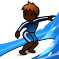 Person Surfing: Dark Skin Tone on emojidex 1.0.34