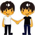 Men Holding Hands on emojidex 1.0.34