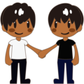 Men Holding Hands: Medium-Dark Skin Tone on emojidex 1.0.34