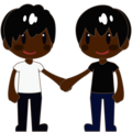 Two Men Holding Hands, Type-6 on emojidex 1.0.34