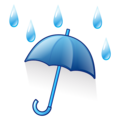 Umbrella with Rain Drops on emojidex 1.0.34
