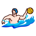 Person Playing Water Polo: Light Skin Tone on emojidex 1.0.34