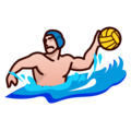Person Playing Water Polo: Medium-Light Skin Tone on emojidex 1.0.34