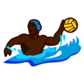 Person Playing Water Polo: Dark Skin Tone on emojidex 1.0.34