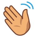 Waving Hand: Medium Skin Tone on emojidex 1.0.34