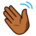 Waving Hand: Medium-Dark Skin Tone on emojidex 1.0.34