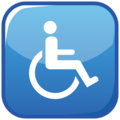 Wheelchair Symbol on emojidex 1.0.34
