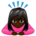 Woman Bowing: Dark Skin Tone on emojidex 1.0.34