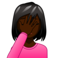 Woman Facepalming: Dark Skin Tone on emojidex 1.0.34