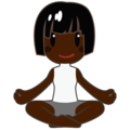 Woman in Lotus Position: Dark Skin Tone on emojidex 1.0.34